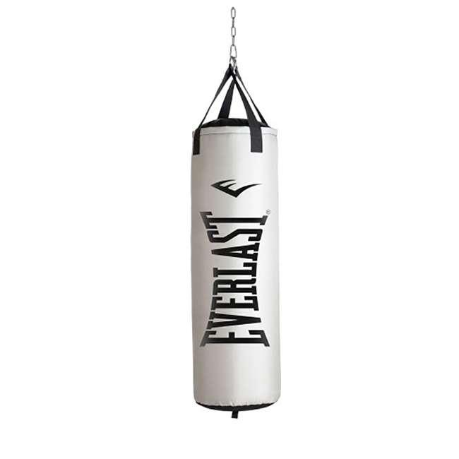 P00001268-U-B Everlast Nevatear Workout 60 Pound Heavy Boxing Punching Bag, Platinum (Used)