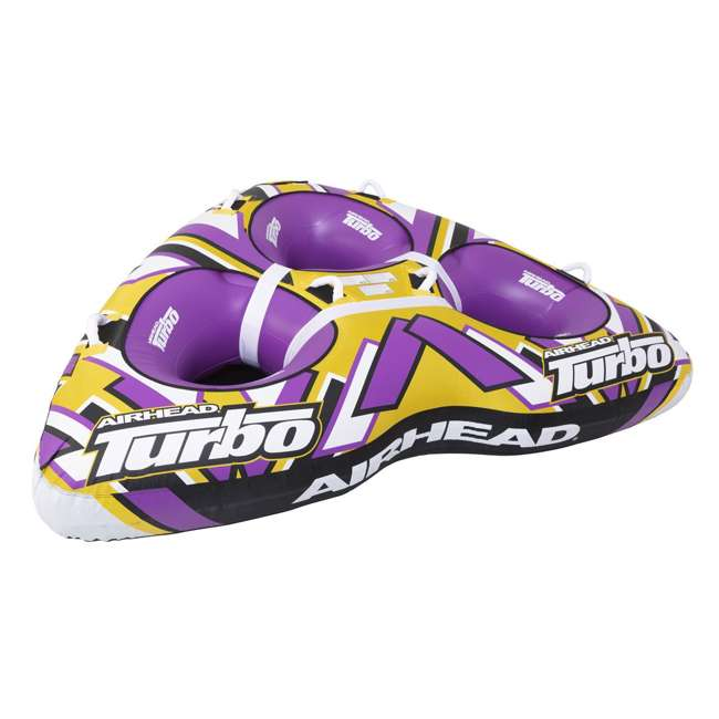 "AHTB-13 Airhead Turbo Blast 3 Person 81"" x 107"" Inflatable Boat Towable Water Inner Tube 7"
