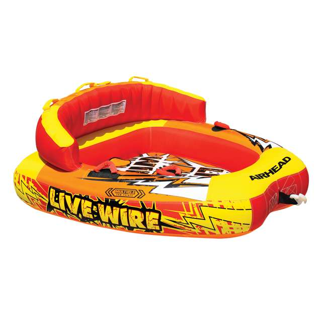 AHLW-2-OB Airhead Live Wire 2 Inflatable 1-2 Rider Towable Tube | AHLW-2 (Open Box)