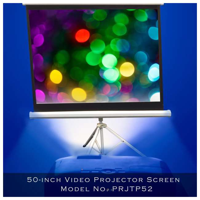 PRJTP52 Pyle 50-Inch Projector Viewing Fold-Out & Roll-Up Display Screen 4