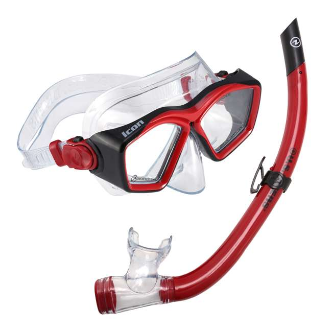 SC253114 U.S. Divers Icon Mask and Airent Snorkel Set for Adults, One Size Fits Most