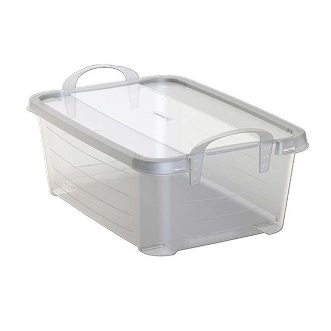 CS-12-U-A Life Story Clear Stackable Storage Container, 14 Quart (Open Box) (2 Pack)