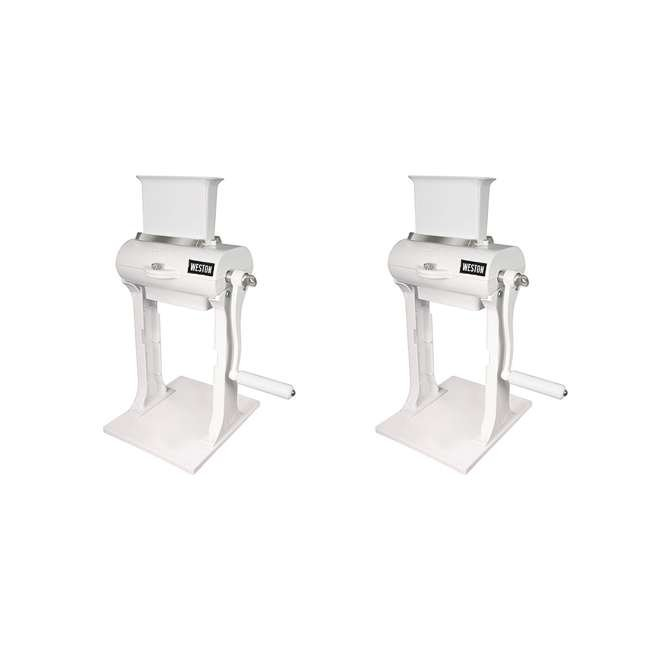 07-3101-W-A Weston Manual Vertical Meat Cuber and Tenderizer (2 Pack)