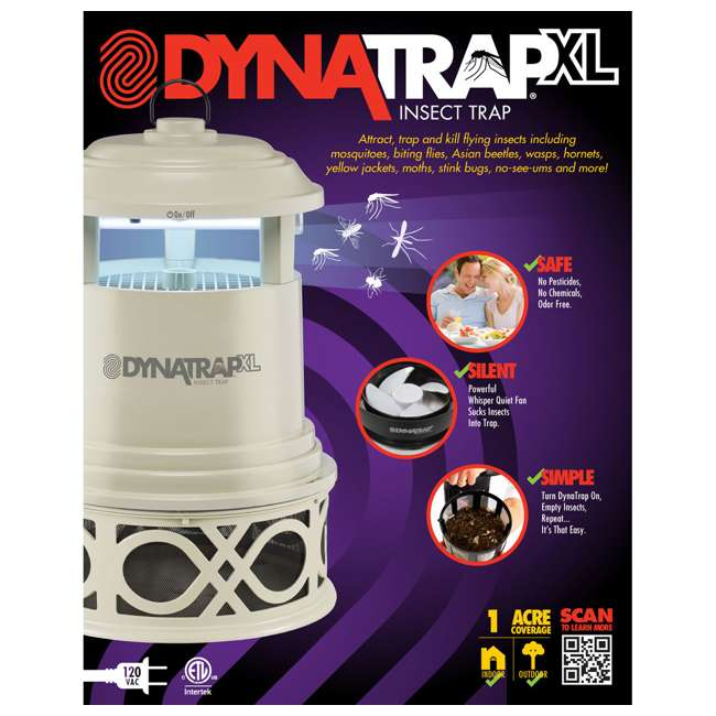 DT2000XLP-DEC2-OB Dynatrap DT2000XLP Decora Full Acre Mosquito and Flying Insects Trap (Open Box) 4