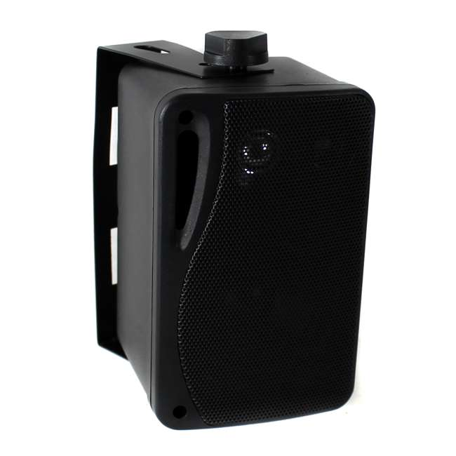 PLMR24B Pyle PLMR24B 3.5-Inch 200W 3-Way Weather Proof Mini Box Speaker System - Black (Pair) 3