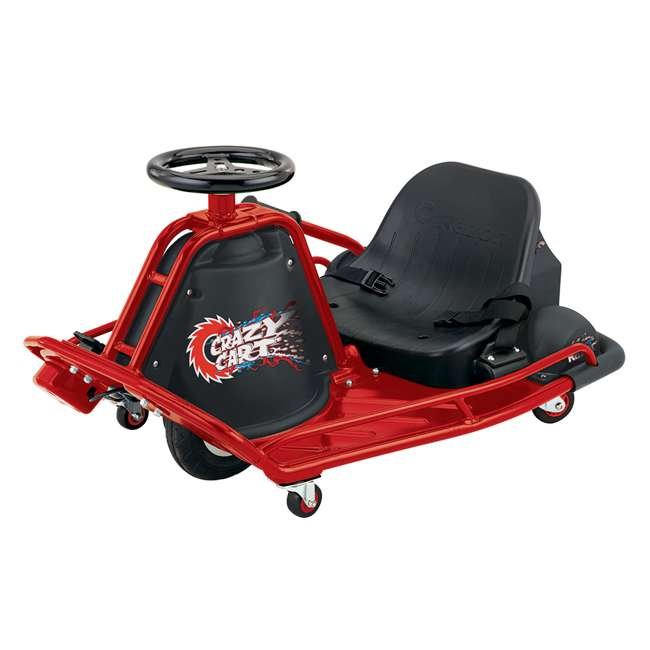 25143499 Razor Crazy Cart Electric 360 Spinning Drifting Ride On Go-Cart