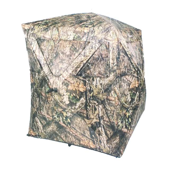 AMEBF3019 Ameristep Big Country Hub Style 2 Person Standing Ground Hunting Blind, Tru Bark