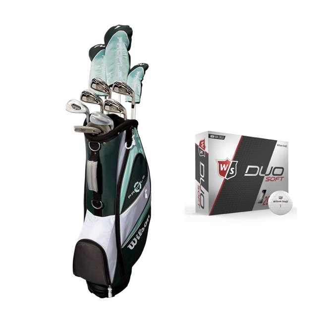 WGGC4380L + WGWP40000 Wilson Profile XLS Women's Left Hand Graphite Golf Club Set & Balls