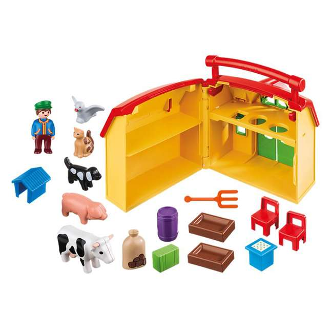6962 Playmobil 6962 My Take Along Farm Doll House & Interactive Action Figures Set 2