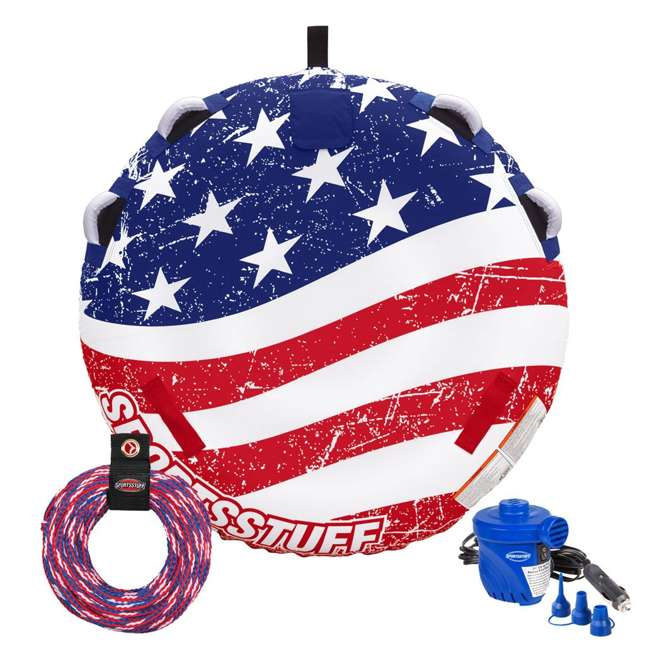 53-4310K SportsStuff Stars & Stripes 1-2 Rider Towable Inflatable Tube