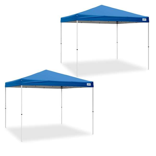 CVAN21007900020 Caravan Canopy V-Series 2 Pro 10' x 10' Straight-Leg Canopy, Blue (2 Pack)