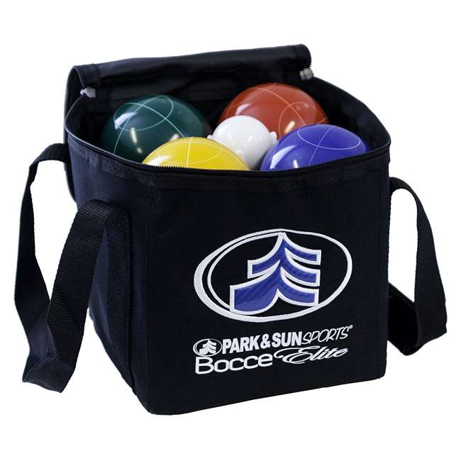 BB-109E Park & Sun Sports Bocce Elite Pro 109mm Set with Carrying Bag 1