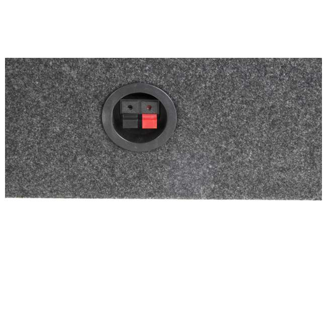 "TW10-SINGLE-U-A Q Power 10"" Slim Truck Shallow Subwoofer Box Sub Enclosure 