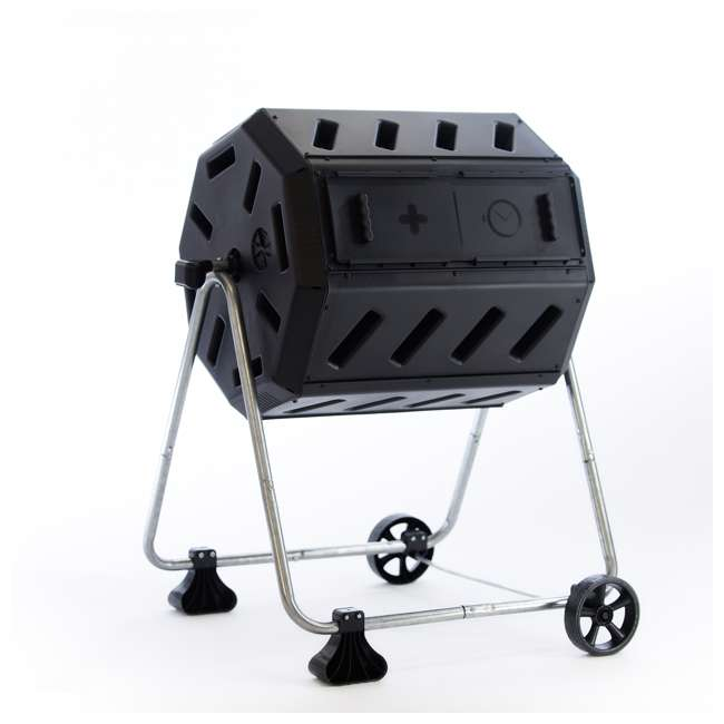 IM4000-WK FCMP Outdoor IM4000-WK 37 Gallon Dual Chamber Quick Curing Rotating Tumbling Composter Bin 1