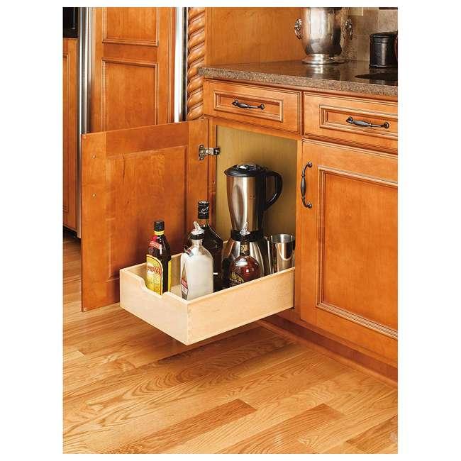 4WDB-15 Rev-A-Shelf 4WDB-15 14 Inch Wood Pull Out Organization Drawer, Maple (2 Pack) 3