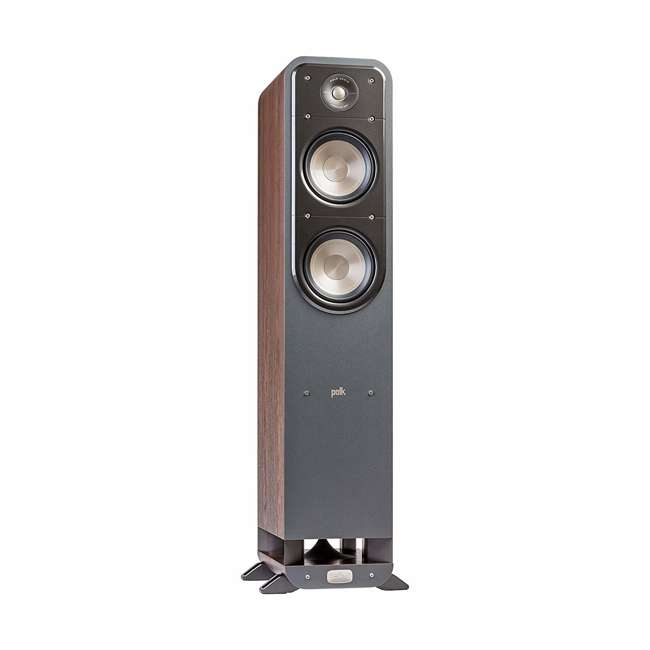Signature-S55-Medium-Tower-Walnut - OB Polk Signature S55 Series Audio American HiFi Home Theater Tower Speaker Walnut 1