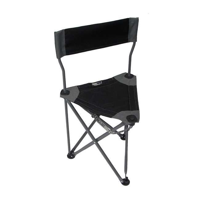 1489V2BK TravelChair Ultimate Slacker 2.0 Portable Outdoor Folding Stool Seat, Black 1