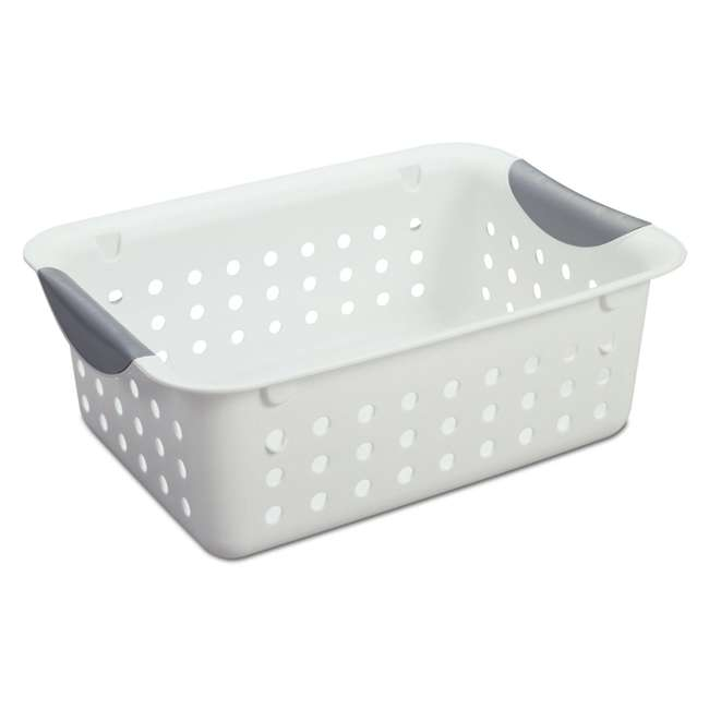 60 x 16228012-U-A Sterilite Small Ultra Plastic Storage Bin Organizer Basket (Open Box) (60 Pack) 1