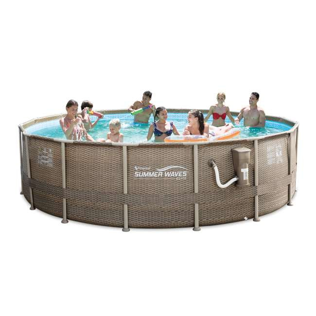 Summer Waves 16 Foot Elite Frame Swimming Pool