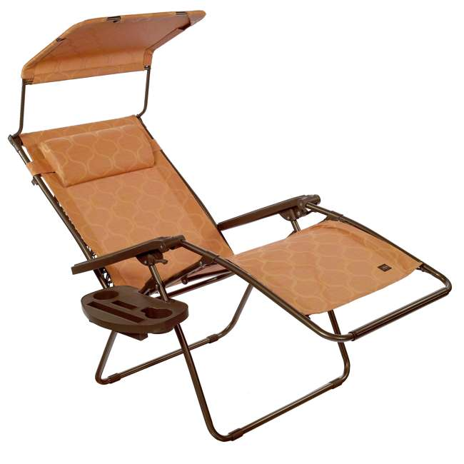 GWD-463TCr Bliss Hammocks 30 Inch Zero Gravity Chair w Canopy & Tray, Terracotta (2 Pack) 1