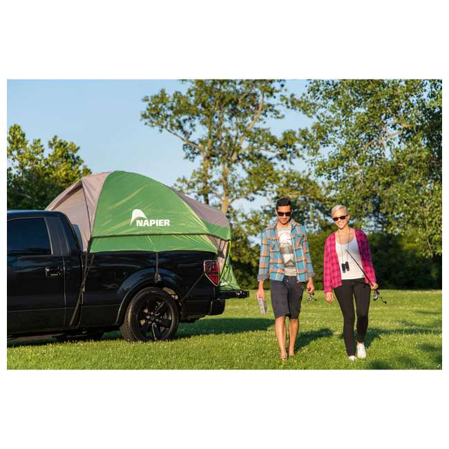 13100 + PPI PV202C Napier BackRoadz 13100 SUV and Minivan Tent w/ GreenAirBedz Inflatable Pickup Truck Air Mattress 7