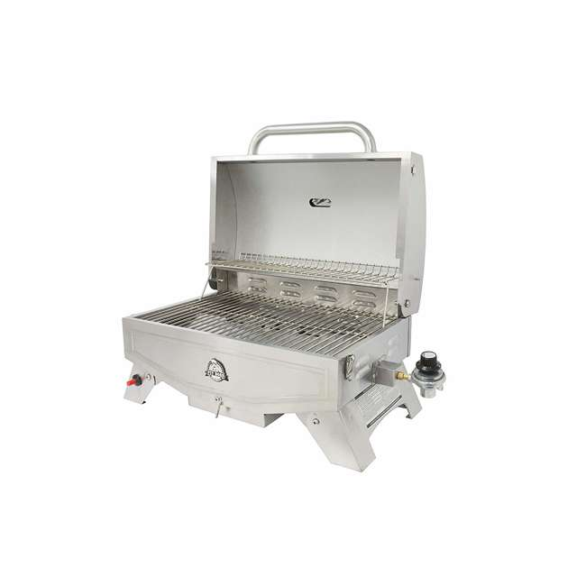 75275 Pit Boss Grills Stainless Steel Portable 2 Rack Propane Gas Grill, 1 Burner 2