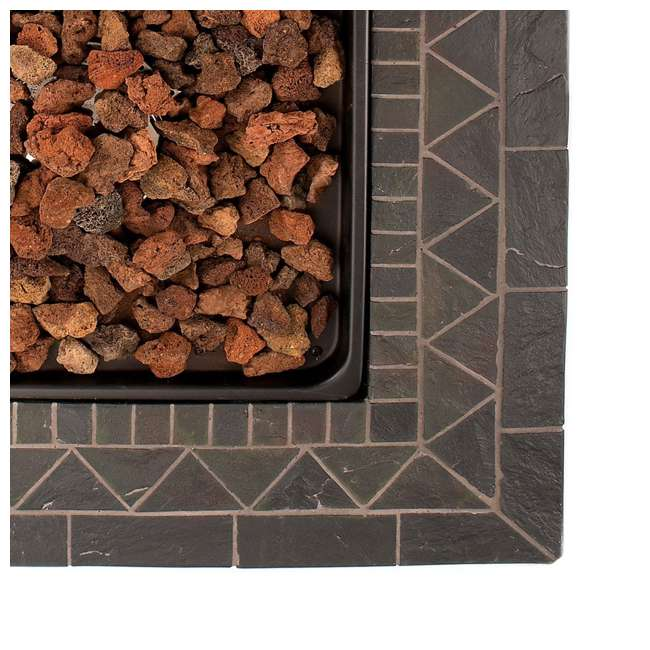 GAD1418M Endless Summer 30 inch Outdoor Gas Lava Rock Patio Fire Pit, Brown (2 Pack) 4