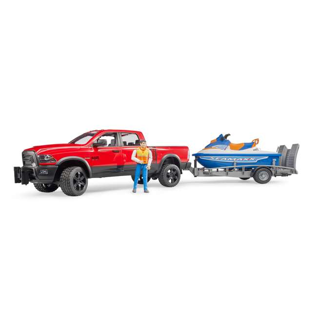 02503-BR Bruder Toys RAM 2500 Power Wagon Truck with Trailer and Jet Ski