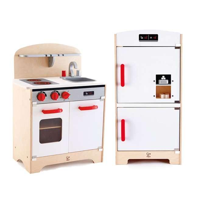 Gourmet Kitchen Cabinets: Hape Wooden Play Gourmet Kitchen + Cabinet Style Fridge