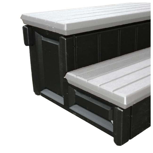 """LASS36-G-U-A Leisure Accents 36"""" Deluxe Deck Patio Spa Hot Tub Steps Gray (Open Box) (2 Pack)"""