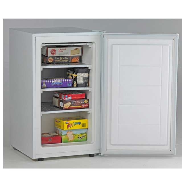 VF306 2.8 Cubic Foot Compact Vertical Upright Freezer, White 1
