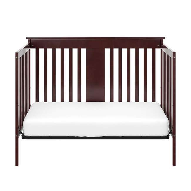 04510-359 + 06711-300 Storkcraft Mission Ridge 4-in-1 Crib in Espresso w/ Mattress 3