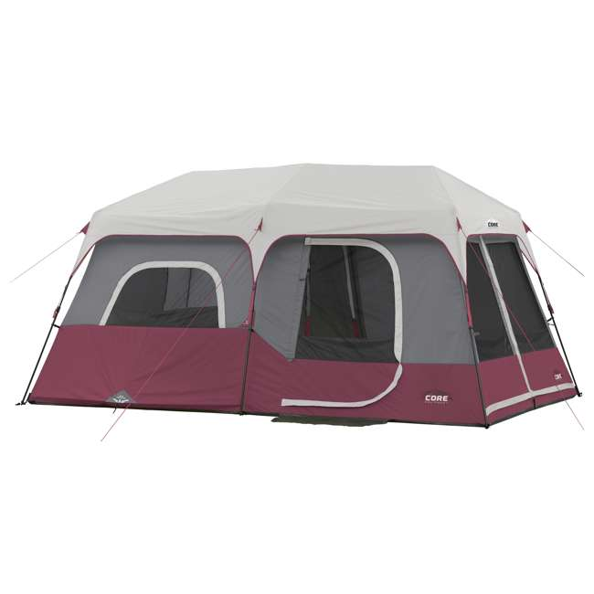 CORE-40069 CORE Outdoor Family Camping 9-Person Pop Up Cabin Tent