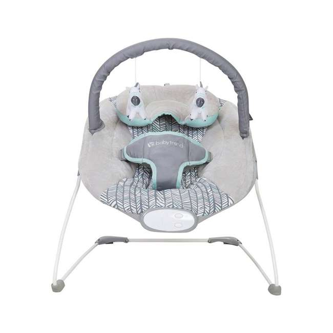 BC20B25B Baby Trend EZ Baby Bouncer with 2 Hanging Toys and Calming Vibrations, Ziggy 2