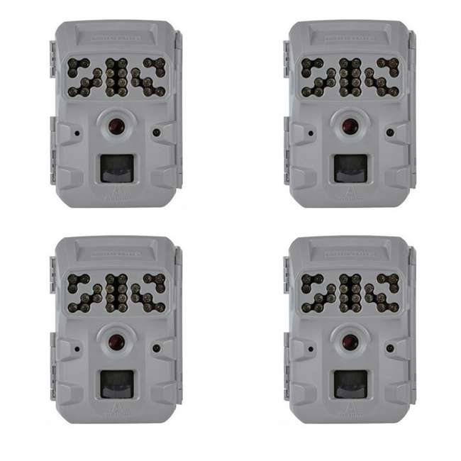 4 x MCG-13337 Moultrie Invisible Flash Phone Compatible Game Trail Hunting Camera (4 Pack)