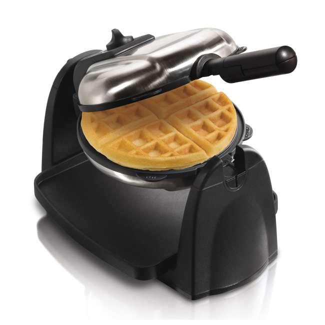 26030 + WAFFLE150 Hamilton Beach Removable Grid Belgian Waffle Maker & 150 Waffle Maker Recipes 5