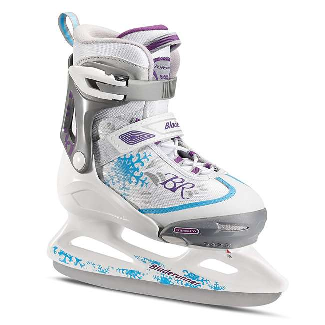 0G144500T1A-L + 44374-B Rollerblade Bladerunner Micro Ice G Skates, Large, & Skate Guard Rollers (Pair) 1