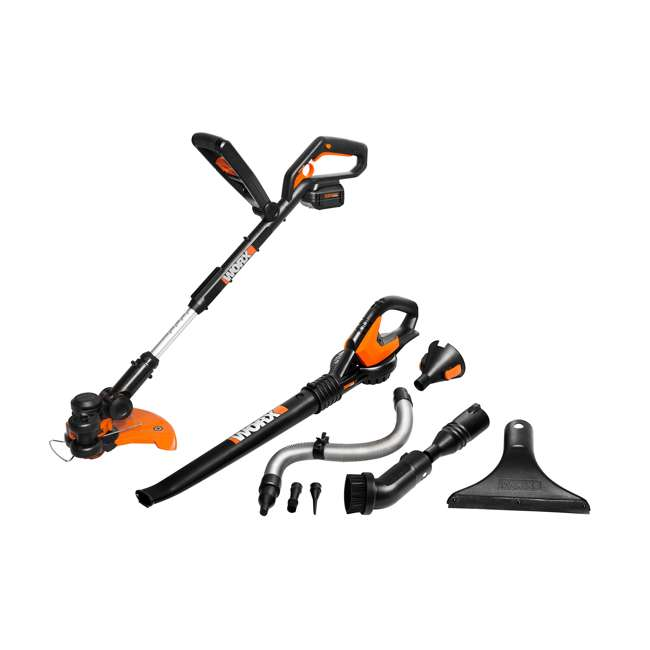 WG924.1 Worx Grass Trimmer and Air Blower Cordless Electric Combo Kit