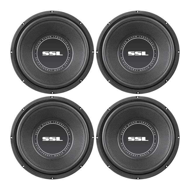 4 x SS10 SoundStorm SSL 10-Inch 600W Subwoofer (4 Pack)