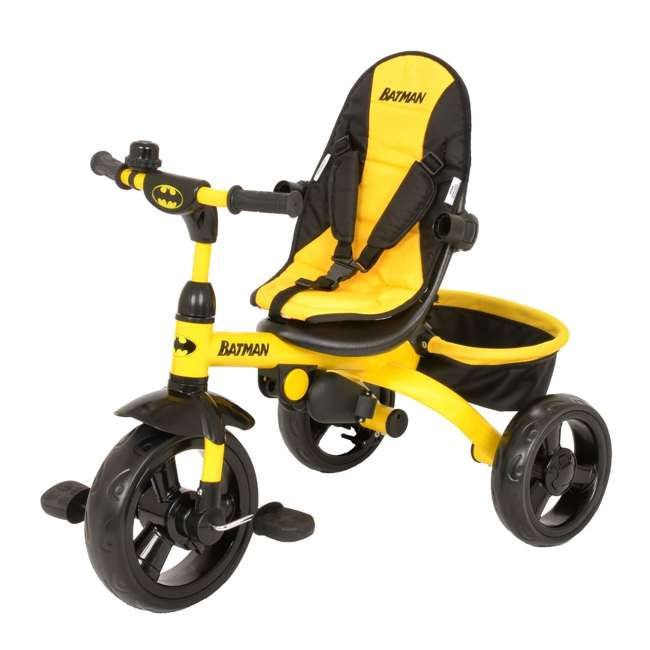 KE-7501BAT Kids Embrace 4 in 1 Push & Pedal Convertible 3 Wheel Batman Trike & Stroller 2