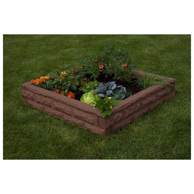 GW-RBG-RED Good Ideas Garden Wizard Outdoor Self Watering Raised Garden Bed, Red Brick 4