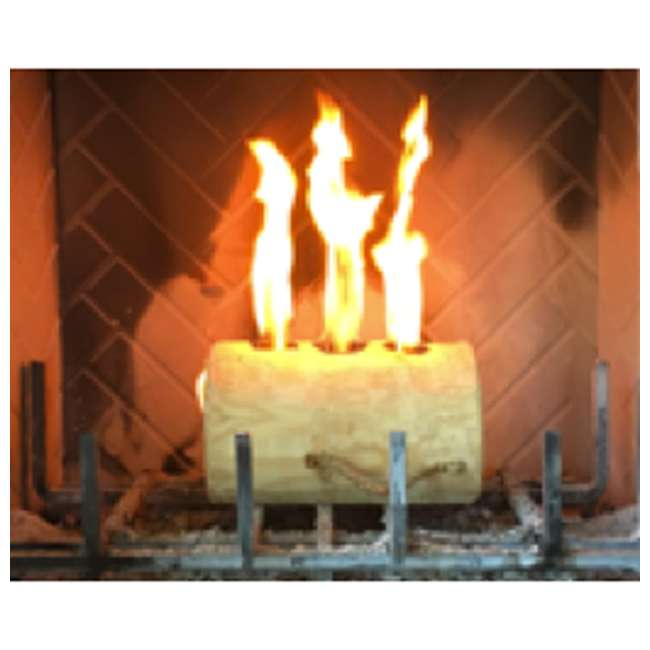 TBT-3004 TimberTote TripleTorch One Log Campfire Fireplace Fire Wood Log with 3 Chimneys 3