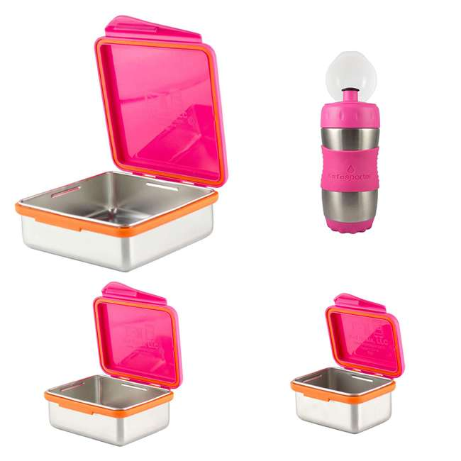 894148002800+894148002923+894148002961+89414800210 Kid Basix 23oz Lunch Box + 13oz and 7oz Containers + 12oz Water Bottle