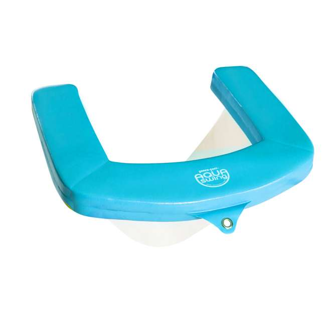 8210028 TRC Recreation Vinyl Covered Floating Aqua Swing Chair Pool/Spa Lounger, Blue 1