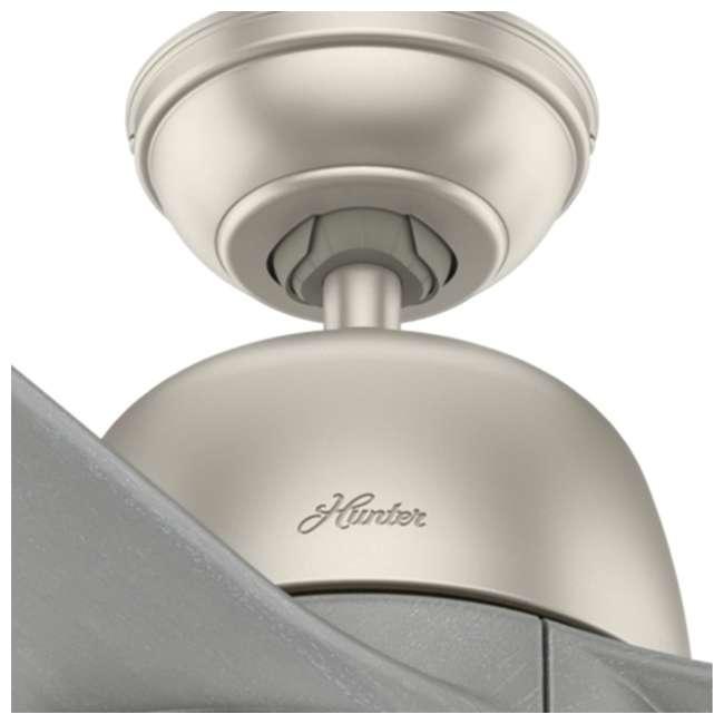 59424 Hunter Fan Company Norden 54-Inch Multiple Speeds Ceiling Fan, Matte Nickel 3