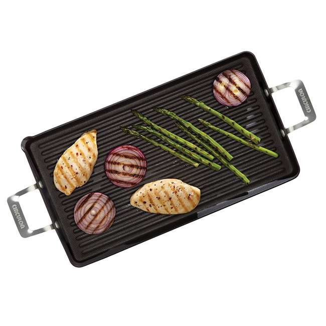 "4 x 83532 Circulon Hard Nonstick 18 x 10"" Double Burner Griddle (4 Pack) 3"