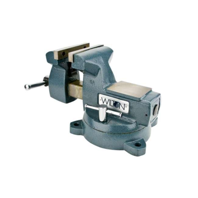 WIL-21800 Wilton Mechanics Vise 8 Inch Jaw with Swivel Base 3