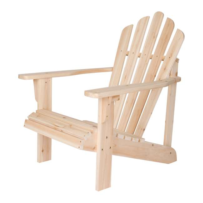 SHN-4611N Shine Company Westport Adirondack Chair, Rust Brown