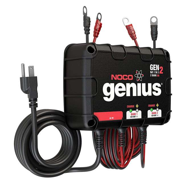 GENM2 Noco Genius GENM2 2 Bank 8 Amp On Board Battery Charger 2