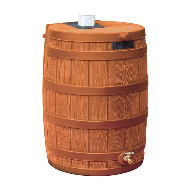 rw50-tc Good Ideas Rain Wizard Storage Collection Rain Barrel 50-Gallon, Terra Cotta